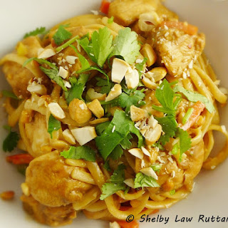 Thai Peanut Chicken and Noodles