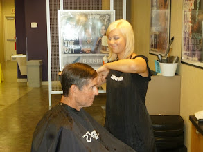 Photo: Jim and Pat getting spruced up