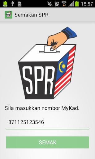 Semakan Daftar Pemilih SPR