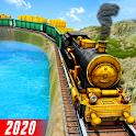 Gold Transporter Train 2020: Train Simulator Games icon