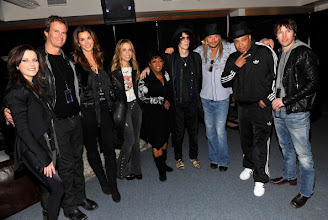 "Photo: DETROIT, MI - JANUARY 15:  (Exclusive Coverage) Martina McBride, Rande Gerber, Cindy Crawford, Sheryl Crow, Anita Baker,  Peter Wolf, Kid Rock, Joseph ""Rev Run"" Simmons and James Blunt backstage at Ford Field on January 15, 2011 in Detroit, Michigan.  (Photo by Kevin Mazur/WireImage)"