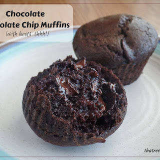 Chocolate Chocolate Chip Muffins – with beets!