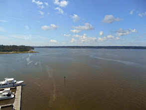 Photo: Facing south - Mount Vernon is just around that bend in the Potomac, I think.