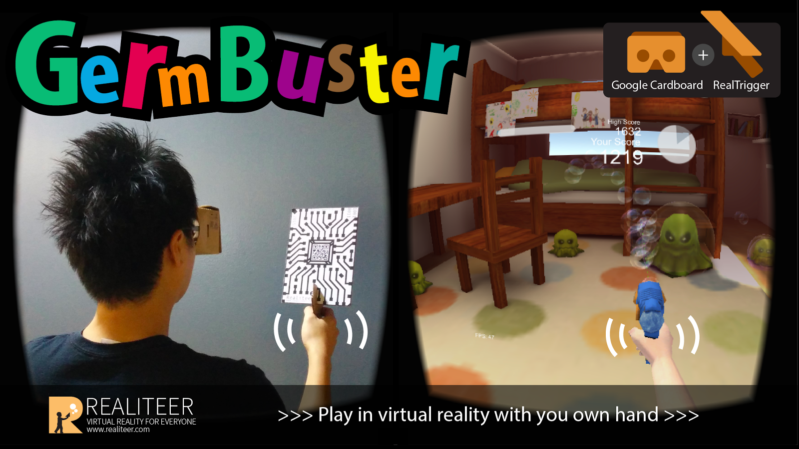 GermBuster VR Google Cardboard- screenshot