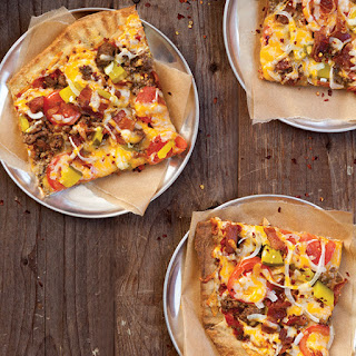 Bacon Cheeseburger Pizzas