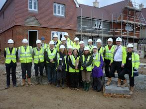 Photo: Affordable housing visit by Parish Councillors