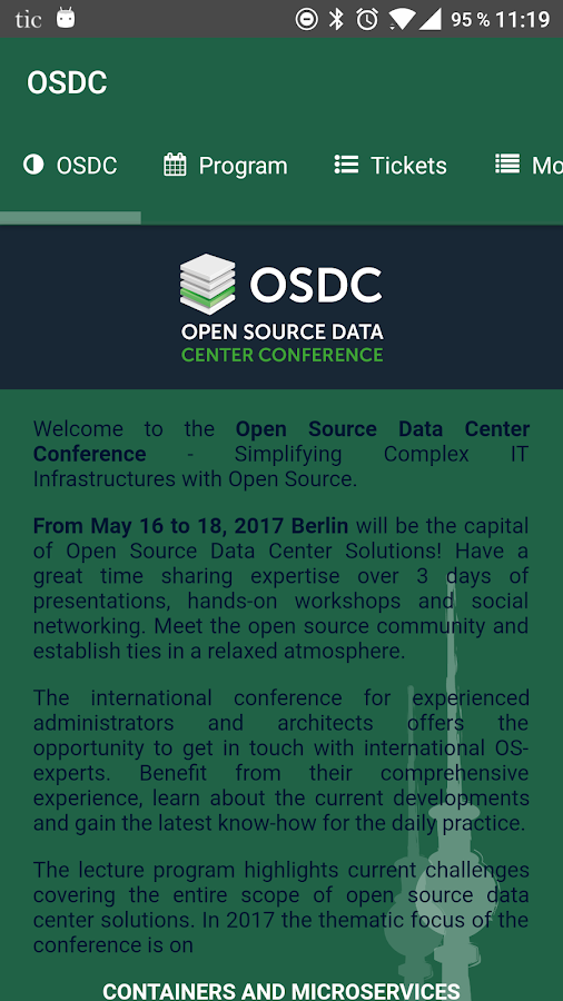 OSDC- screenshot