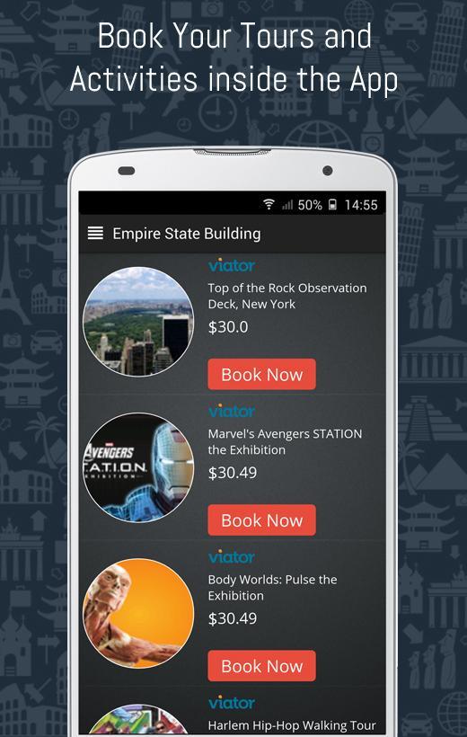 Monument Tour Guide:Travel App- screenshot
