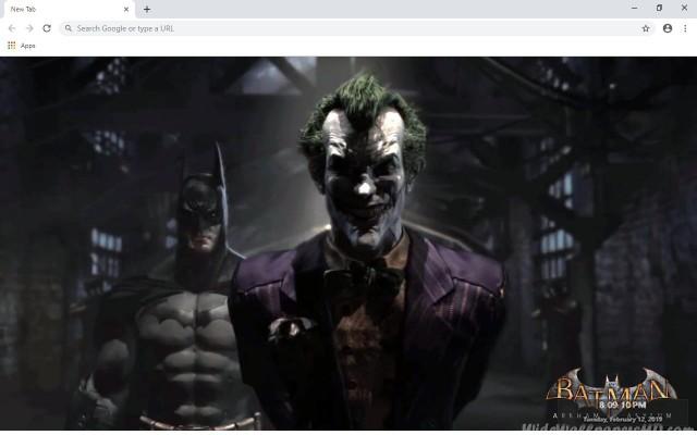 Batman: Arkham Asylum New Tab Theme