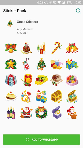Christmas Stickers for WhatsApp 1.0 screenshots 1