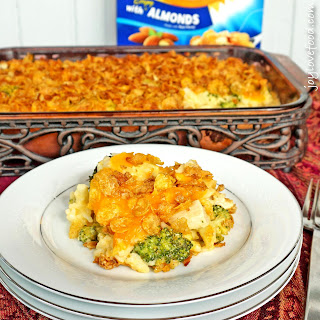 Cheesy Chicken, Broccoli and Rice Casserole.