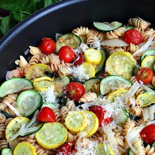 One Pot Summer Vegetable Pasta.