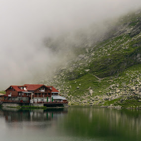 Hut in the clouds by Augustin Galatanu - Landscapes Travel ( pwcreflections-dq )
