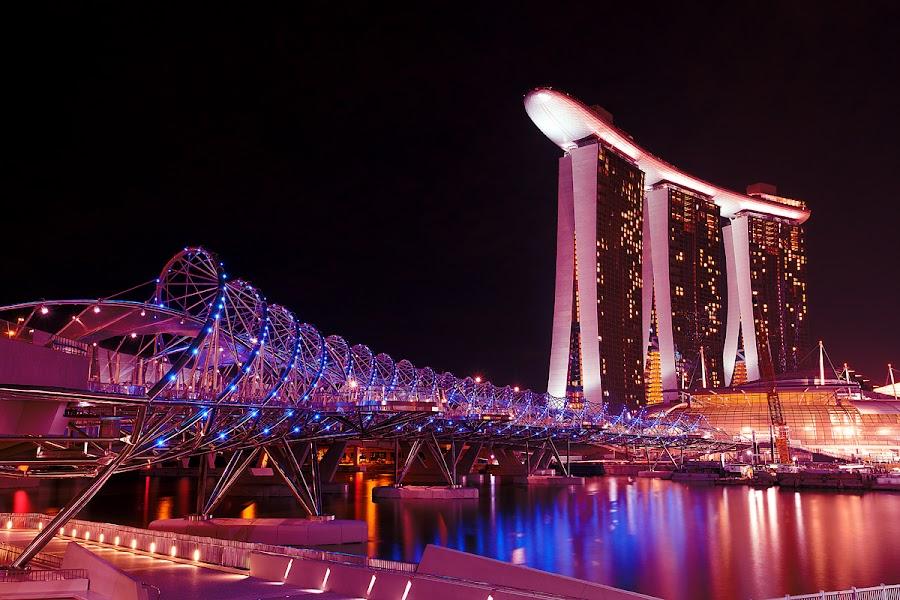 MBS Helix by Jun  Gomez - Buildings & Architecture Bridges & Suspended Structures ( designs, bridge, architecture )