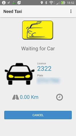 Need Taxi (Asia) Passenger application Screenshot