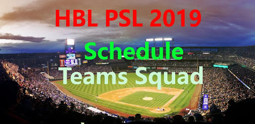 The PSL 2019 schedule will be placed here.Feb14 2019 featuring 6 teams in PSL 4