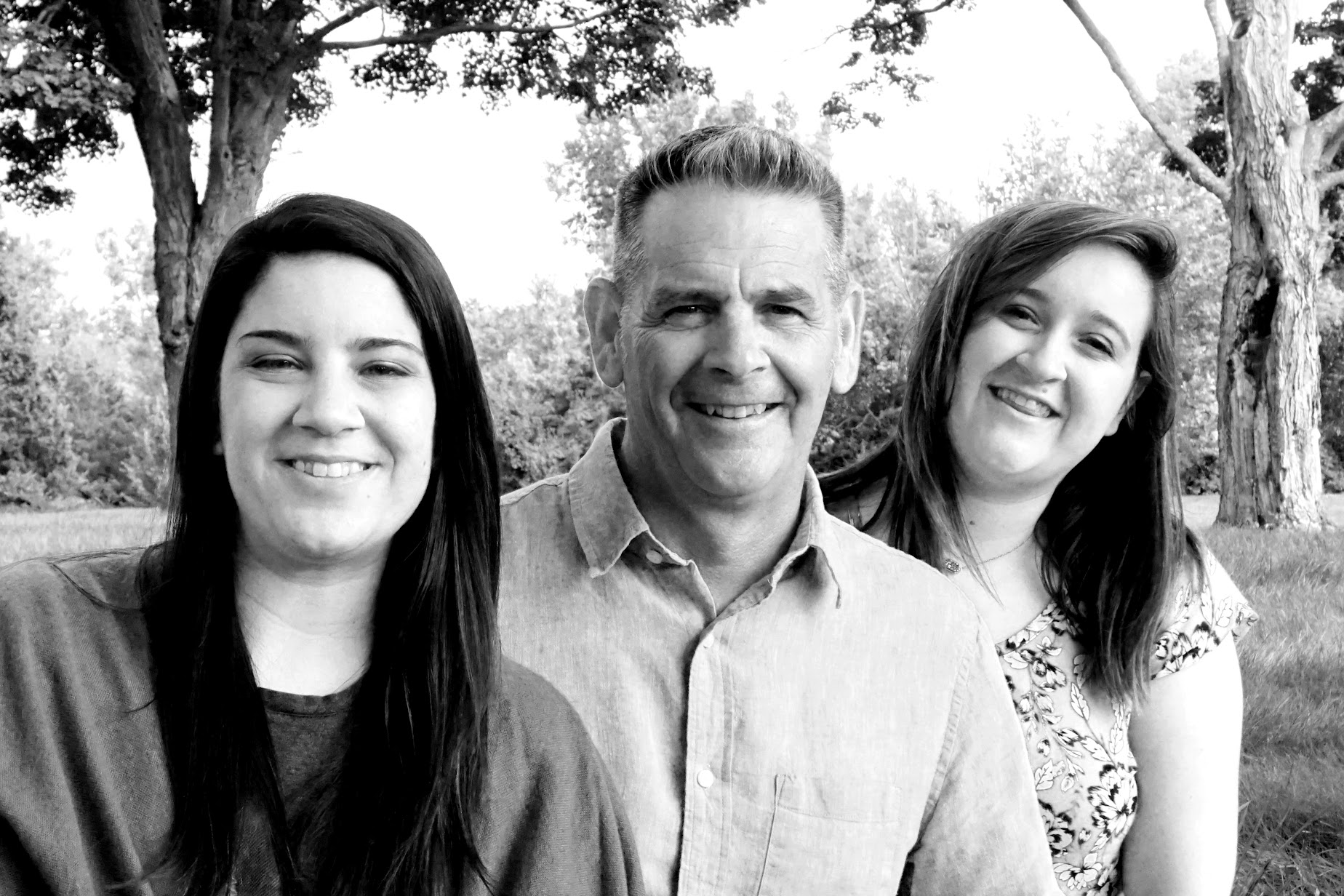 Black and white family photography session