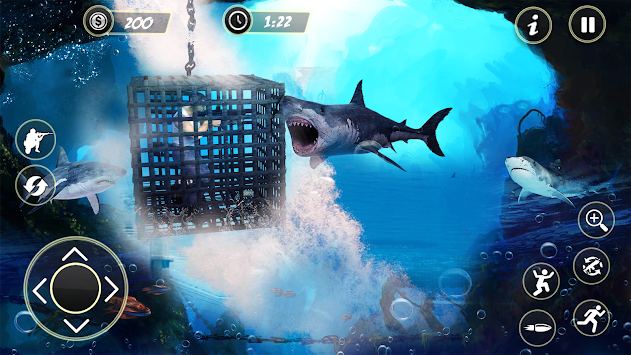 Underwater Shark Hunting Games for Free 2018 apk screenshot