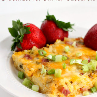 Easy Hashbrown Casserole with Ham.
