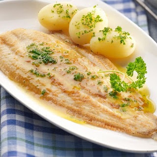 Sole Fillets with Parmesan Cheese (Mornay) Sauce.