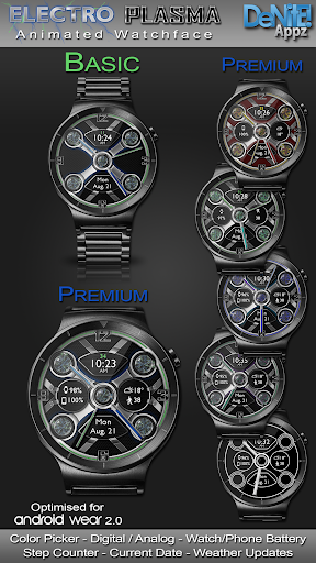 Electro Plasma HD Watch Face Widget Live Wallpaper 4.9.4 screenshots 1