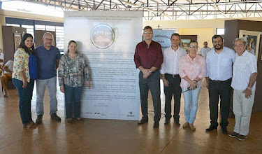 Photo: Diretoria do CPP, Coordenador da CRN, artistas plásticos, e gerente da Funap