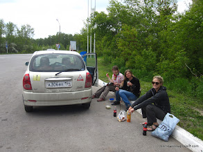 Photo: Picnicking at the gas station...until we were asked to leave