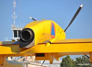 Photo: une des 2 turbines PW125 encore toute chaude.