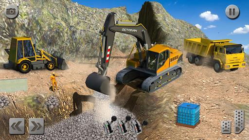 Sand Excavator Truck Driving Rescue Simulator game 5.0 screenshots 3