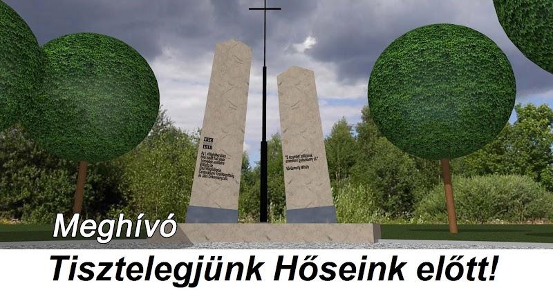 Meghívó emlékmű átadási ünnepségére 2019.06.30
