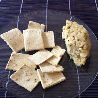Raw Coconut Flour Crackers.