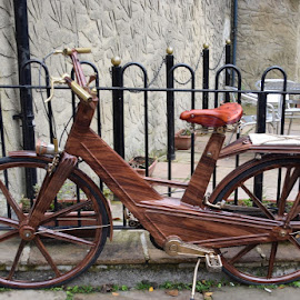 by Betty Taylor - Transportation Bicycles ( wheels, bikes, wood, transportation )