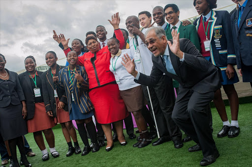 Group shot of learners at the matric results announcement at Vodaworld in Midrand. Picture Credit: Daylin Paul