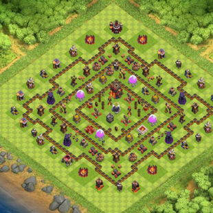 Farming Base Maps Town Hall 10 - náhled