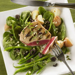 Grilled Tuna Nicoise Salad.