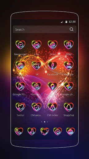 Neon Love Theme Screenshot