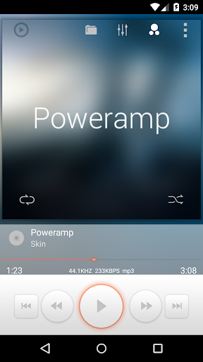 Poweramp White Orange Skin
