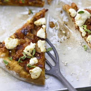 Pizza with Spicy Eggplant Ragout.