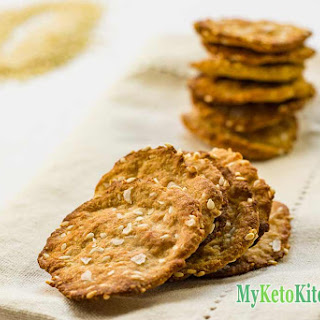 Sesame Sea Salt Keto Crackers.