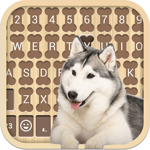 Husky Dog Emoji Keyboard