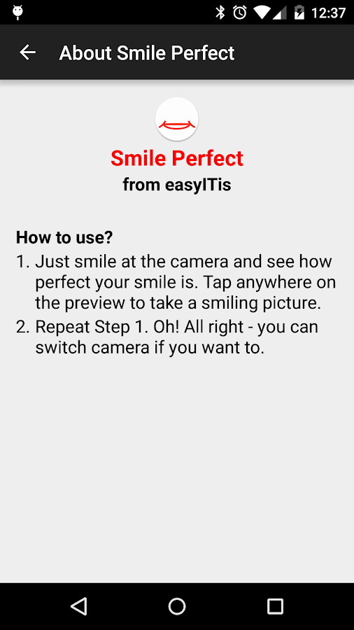 Smile Perfect Camera- screenshot