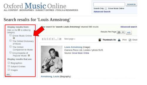 Grove Music Online - Página de Resultados