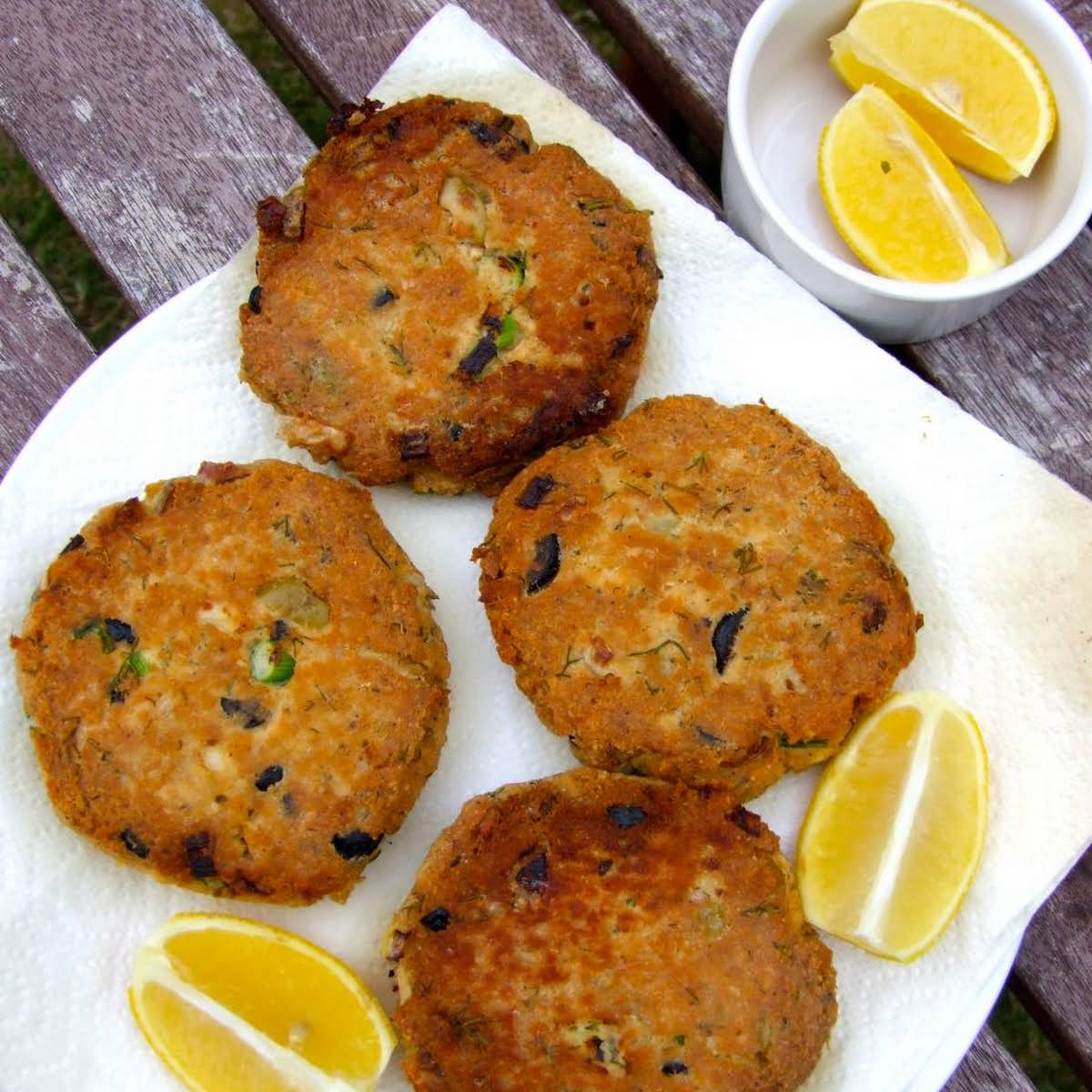 Salmon Fishcakes  subsequently Dill And Olives