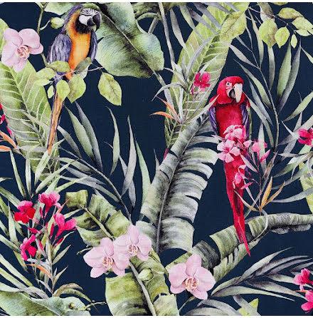 Arthouse Pretty Polly Parrot Tapet papegojor 297107 Navy / Multi