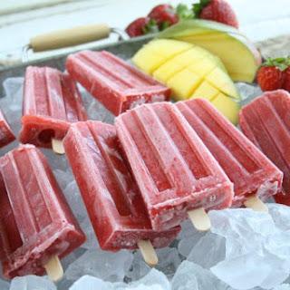 Strawberry Mango Ice Pops