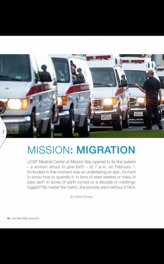 UCSF Magazine - screenshot