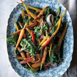 Carrots and Greens with Dilly Bean Vinaigrette.