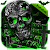 Green Zombie Skull Parallax keyboard file APK for Gaming PC/PS3/PS4 Smart TV