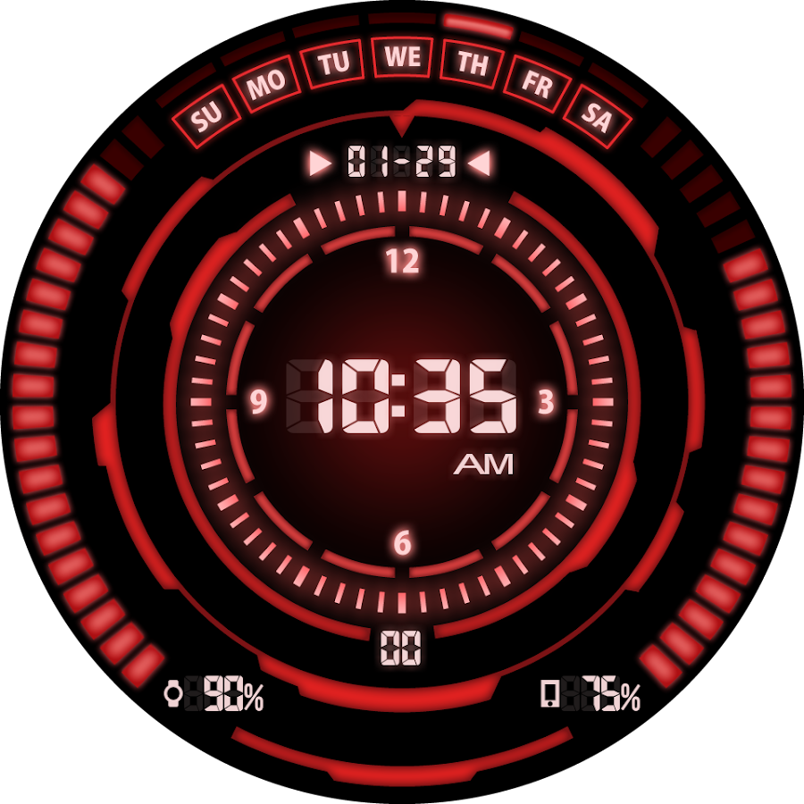 V07 WatchFace for Android Wear- screenshot