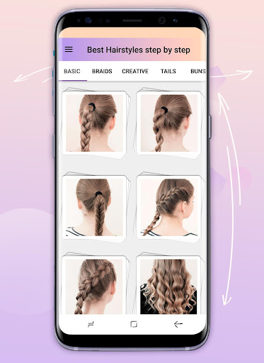 Hairstyles step by step app (apk) free download for Android/PC/Windows screenshot